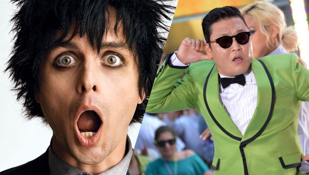 GREEN DAY, BILLIE JOE ARMSTRONG PRENDE IN GIRO PSY.