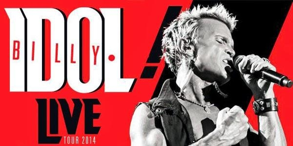 BILLY IDOL DAL VIVO AL FABRIQUE DI MILANO IL 23 NOVEMBRE