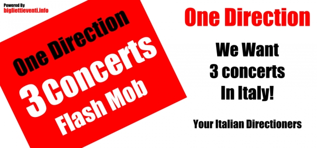 ITALIAN DIRECTIONERS WANT 3 CONCERTS!