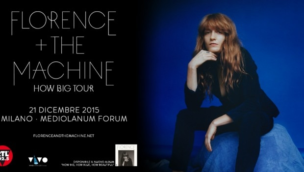 FLORENCE & THE MACHINE, A MILANO UNICA DATA ITALIANA DELL' HOW BIG TOUR