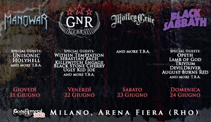 GODS OF METAL 2012: UN CAST INCREDIBILE PER LA SEDICESIMA EDIZIONE