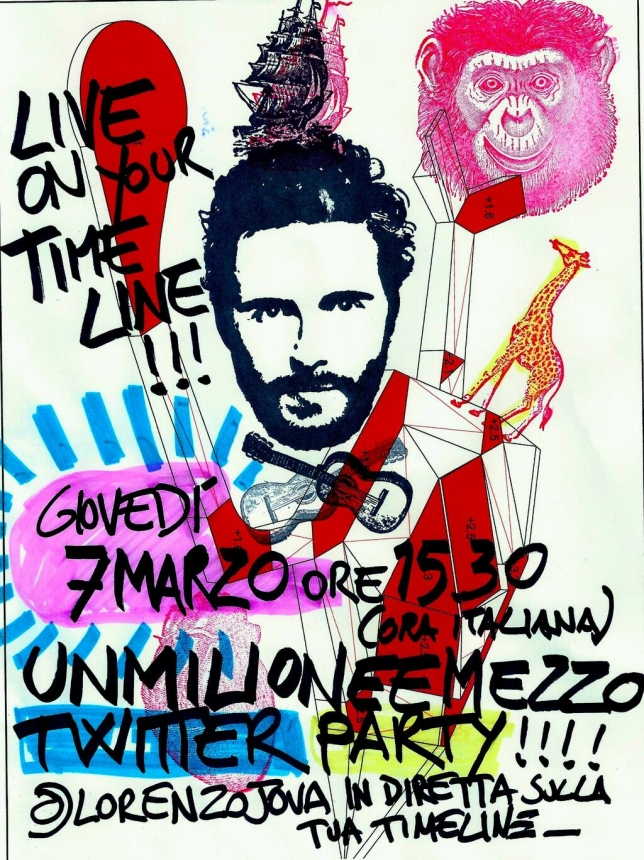 JOVANOTTI, ALLE 15.30 PARTY SU TWITTER CON I FAN.